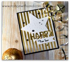 Stampin Up Happy New Year Card by Sandi @ www.stampinwithsandi.com