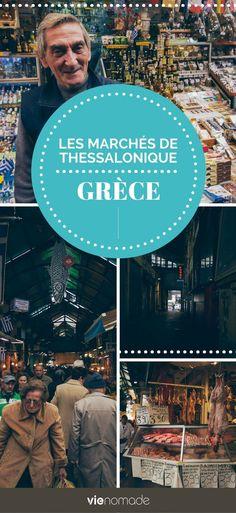 Découvrez en photos les marchés Modiano-Kapani à Thessalonique, en Grèce. Les Continents, Voyage Europe, Europe Destinations, Blog Voyage, Greece, Movies, Movie Posters, Photos, Travel