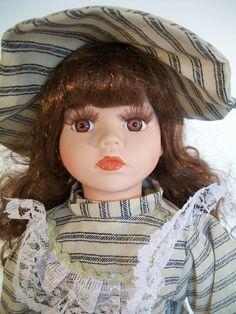 "J Misa Collection Porcelain Doll 1 of 2000 16"" Tall Brown Hair Brown Eyes  #JMisa"