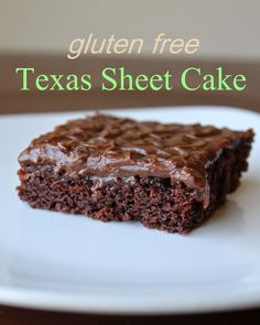 The Best Gluten Free {Recipes}: Gluten Free/Egg Free Texas Sheet Cake