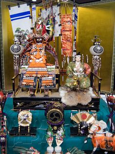 Japan - On May 5th a samurai doll display known as Gogatsu Ningyo is set up in families with boys - Photo by Photo Japan