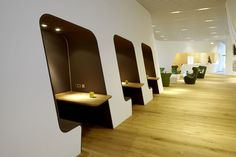 VIP WING Lounge Flughafen München - Business Corner - TROPP LIGHTING DESIGN