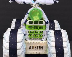 Cowgirl diaper cake baby shower decorations by OBabyDiaperCakesCo