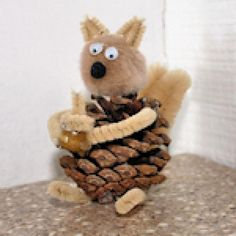 Tons of Free Crafts for Elementary School-Aged Kids: Pine Cone Squirrel