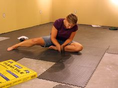 home basement workout room!! Hoping to do this while on maternity leave :)