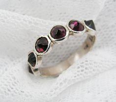 garnet ring, pretty and my birthstone