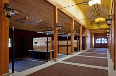 Grooming areas at the Riverlands Equestrian Facility designed by GH2 Gralla Equine Architects in British Columbia.  Photo credit to: Ivan Hunter Photography