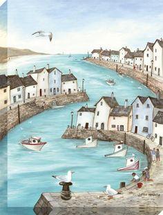 Morning Harbour - Canvas Code: AK06280  Artist: Janice McGloine  Size: 60 x 80cm  Type: Canvas Wrap