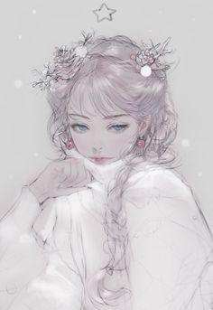Anime Girl Drawings, Anime Art Girl, Manga Art, Cute Drawings, Pretty Anime Girl, Beautiful Anime Girl, Pretty Art, Cute Art, Anime Fantasy