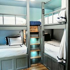 A This Old House reader built these bunk beds for her four kids. Each child gets privacy and their own reading light.