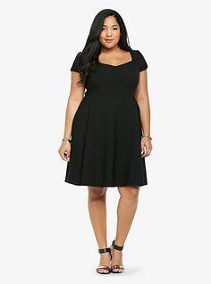 2a986fc833278 Little Black Dress for Plus size Swing Dress