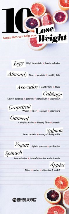 To maximize your weight loss goals, incorporate these 10 nutrient-rich foods into a balanced diet, step up your exercise game, and get plenty of water and sleep. // protein // fiber // whole foods // lose weight // get healthy // nutrition // healthy habits // eat clean // Beachbody // BeachbodyBlog.com