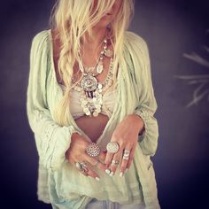 FP ONE Tie That Binds Blouse styled by gypsylovinlight on FP Me #freepeople #fpme