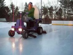 We've known people to put down a small ice rink in their back yard during the winter. But a machine to resurface these diy rinks is unheard of until now. The big name in rink resurfacing is Zamboni...