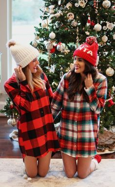 One of the best ways to get in the holiday spirit, is with festive plaid Christmas pajamas and I've rounded up several options! Cute Christmas Pajamas, Christmas Pajama Party, Cute Christmas Outfits, Cute Pajamas, Christmas Fashion, Plaid Christmas, Holiday Outfits, Classy Christmas, Winter Christmas