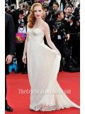 Jessica Chastain 'Madagascar 3' Premiere Strapless Prom Dress - TheCelebrityDresses