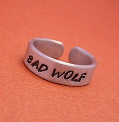 I found 'Bad Wolf Ring' on Wish, check it out!