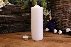 Κεριά Κυλινδρικά Λευκά Φ7x20εκ Pillar Candles, Taper Candles