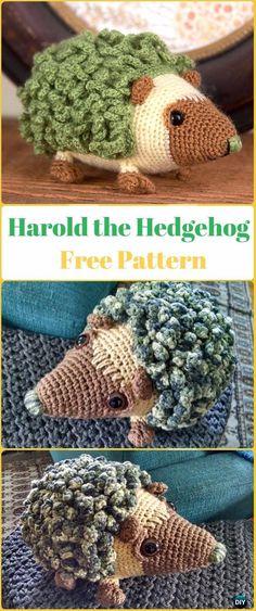 Amigurumi Crochet Harold the Hedgehog Crochet Free Pattern - Crochet Hedgehog Free Patterns