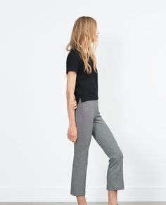 FLARED CROPPED LEGGINGS from Zara