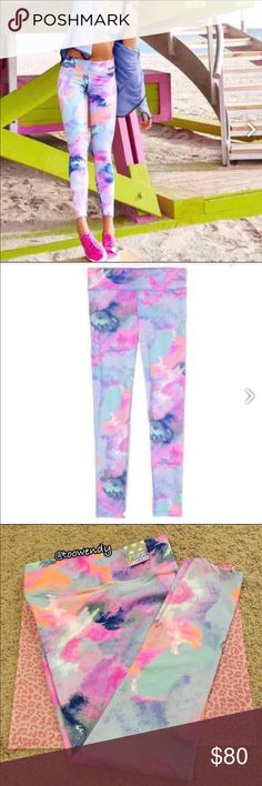 "PINK Ultimate Yoga Legging ✨LIMITED EDITION✨ ✨RARE , POPULAR PRINT✨  Size: LARGE  Color: Pastel Marble / Watercolor   ❤️Super smooth and fit to flatter—our best yoga fabric yet. Now with a sporty contrast waist. Only from Victoria's Secret PINK.  -28"" inseam -Sporty pieced detail -Imported polyamide/spandex  ✨NOTE! Price is firm but cheaper at Ⓜ️ercari ! This is the last pair so get it before it's gone!   NEW with tag ! Thanks for shopping @toowendy !  Periwinkle  Lilac  Purple  Violet…"