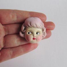 Antique Doll Brooch Rose by DottieDollie