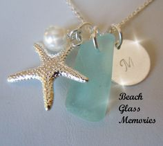 Personalized Sea Glass Jewelry  Pendant by BeachGlassMemories, $24.98