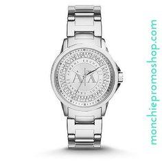Armani Exchange Outerbanks Ladies Stainless Steel Glitz Watch