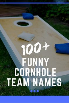 There's nothing quite as fun to pass the time than playing a few good rounds of cornhole! If you're looking for some of the best cornhole team names there is, look no further! team names Best Cornhole Team Names Ever (From Air Beans to Wrong Hole) Beer Pong Team Names, Cornhole Tournament, Cornhole Boards, Names Of Teams, Fun Team Names, Cool Names, Name Games, Fun Games, Beer