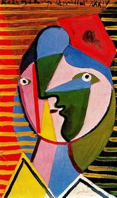Pablo Picasso「Woman turned right」(1934)