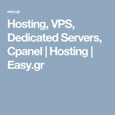 Easy.gr is the most popular and cheapest web hosting provider in Greece. We provide reliable, scalable and trustful services compared to other hosting providers.  Here, you can get different types of web hosting packages with unlimited bandwidth and maximum hosting space. In fact, we are providing unique and best hosting services for our customers.