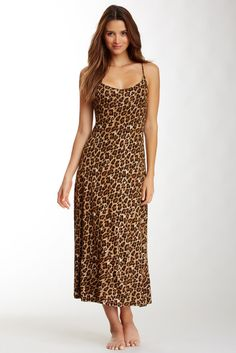 Natori Animal Print Slip Gown