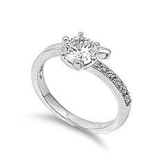 Maya's 2CT Pave Brilliant Cut Cubic Zirconia Engagement Ring