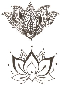 Lotus - Flower symbol of spirituality, beauty, femininity, purity Love the lotus henna tattoos Girly Tattoos, Arm Tattoos, Flower Tattoos, Script Tattoos, Dragon Tattoos, 1 Tattoo, Piercing Tattoo, Hamsa Tattoo, Lotus Tattoo Men