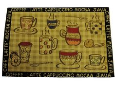 Coffee Cups Placemats Set of 4 $26.95