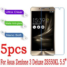For Asus ZenFone 3 Deluxe ZS550KL ZS570KL Screen Protector Clear Matte Nano Explosion-proof Protective Film (Not Tempered Glass)