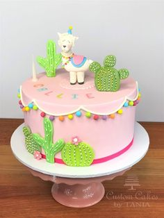 We make custom and premium quality cakes for weddings, birthdays, Christenings and any other special event. Llama Birthday, Girl Birthday Themes, Flamingo Birthday, Little Girl Birthday, Birthday Cake Girls, 2nd Birthday, Birthday Ideas, Fiesta Cake, Cactus Cake