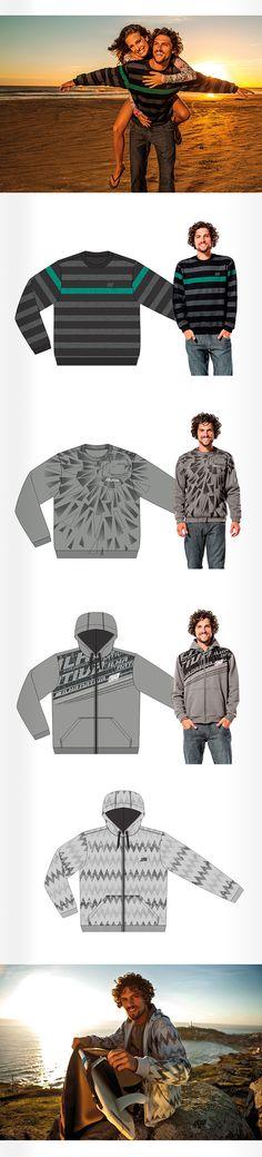 Estampas para jaqueta e blusão de moleton. Ilha Nativa inverno 2014.