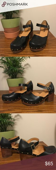 Korks by Kork-Ease Studded Mary Jane Shoes Super cute platform Korks with studs and real leather. Worn maybe once Korks by Kork-Ease Shoes Platforms
