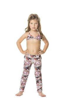 Agua Bendita Girls Cabo Pants are the cutest things we have ever seen!  #designerkids #kidsfashion