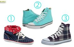 3 pairs of high tops I love