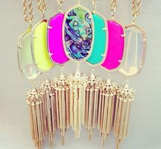 Kendra Scott love the bright colors! perfect for spring and summer