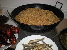 MIGAS MANCHEGAS ( LA MANCHA CIUDAD REAL) por MIS TRUCOS DE COCINA Gazpacho, Spanish Cuisine, Alicante, Sandwiches, Rice, Food, Pork Belly, Breads, Diners