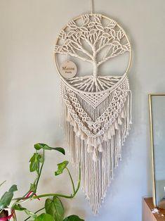 Large Customised Tree of Life Macrame Wall Hanging, Mothers Day Gift Macrame Wall Hanging Patterns, Macrame Art, Macrame Design, Macrame Projects, Macrame Knots, Macrame Patterns, Crochet Projects, Macrame Wall Hangings, Quilt Patterns