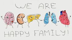 take care of your health!  #healthy #brain #heart #bodies #medicine #drawing #painting #colorful #family #dancers #iirs_painting #рисунок #органы #медицина #здоровье #сердце #печень #легкие #цвет #семья #креатив #дружба by _iirs_che_