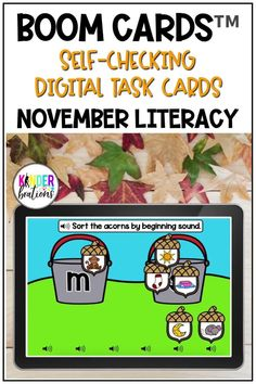 Engage your students and practice LITERACY SKILLS with these fall-themed Boom Cards! This October Literacy bundle covers a variety of skills including beginning and ending letter sounds, CVC words, rhyming, syllables, and more! Perfect for Kindergarten, Preschool, and First Grade! They are perfect for centers, independent work time, small group instruction, and distance learning.