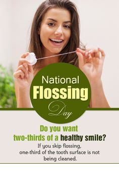 National #Flossing Day was established to remind you of the importance of #cleaning the whole tooth. Call 855 315 7155 to book your next dental appointment.