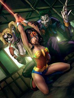 Wonder Woman bound by the Joker by cehnot.deviantart.com on @deviantART