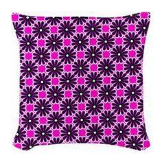 Fancy Floral Pattern Burlap Throw Pillow > Throw Pillows > Custom Design Store