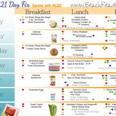 21 Day Fix ALDI Meal Plan and Shopping List